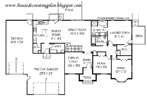 modern ranch floor plans house decorating plan house decorating contemporary ranch