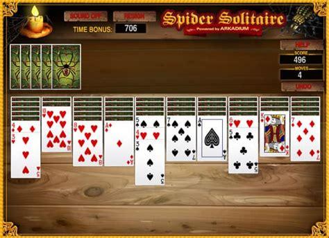 spider solitaire suits gratis  spel funnygames