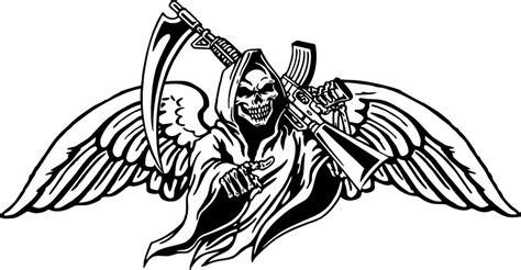 grim reaper gun scythe wings skull monster car truck