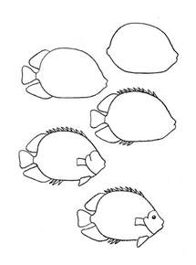How To Draw Fish Draw A Simple Fish 10 Step By Step Drawing Lessons Part