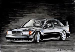 Mercedes 190 Evo Mercedes 190 Evolution Ii Painting By Rimzil Galimzyanov