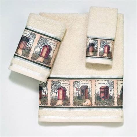 outhouse bathroom accessories outhouses beige bath towel by avanti outhouses