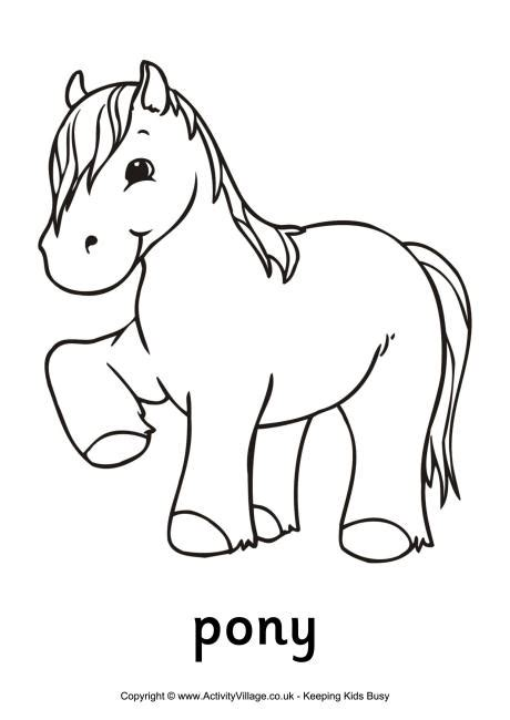 coloring pictures of horses and ponies pony colouring page