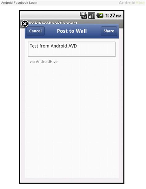 tutorial android facebook connect android facebook connect tutorial