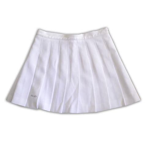white pleated tennis skirt sz 8 on storenvy