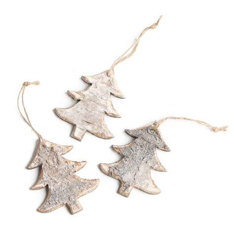 rustic ornaments rustic birch tree ornaments and