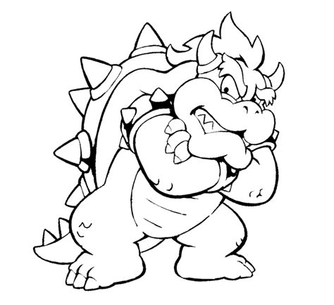 Bowser Coloring Page bowser jr coloring pages az coloring pages
