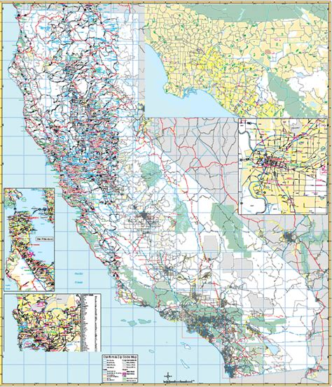 zip code map of california california wall map with zip codes keith map service inc