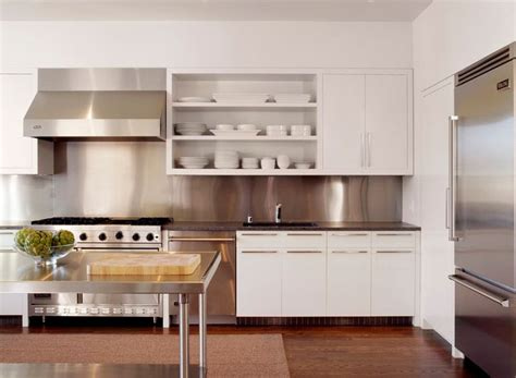 modern white kitchen backsplash how to make the most of stainless steel backsplashes