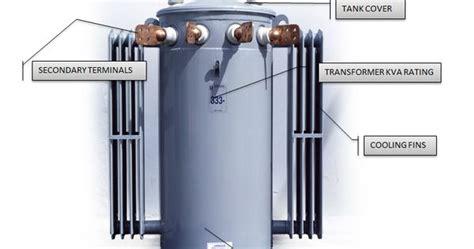 basic parts of a single phase pole mounted distribution