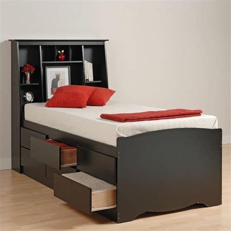 tall beds black tall full bookcase platform storage bed bbd 5612 kit