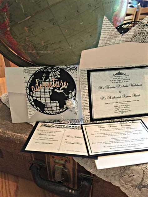 Wedding Invitations Travel Theme by Custom Diy Travel Theme Wedding Invitation Remarkable