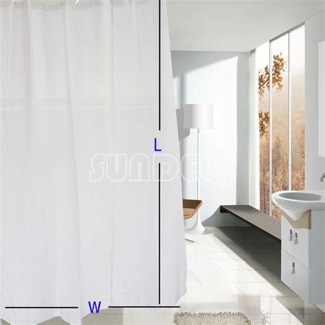 hotel brand shower curtain quality xl large extra long wide white polyester shower