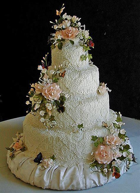 Sugar Lace,flowers and butterflies made this cake stunning