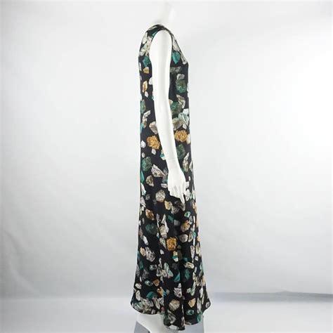 New Hermes Maxi hermes new runway black quot mineraux quot maxi dress 36 rt 5 150 for sale at 1stdibs