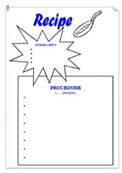 recipe for friendship template worksheets recipe template