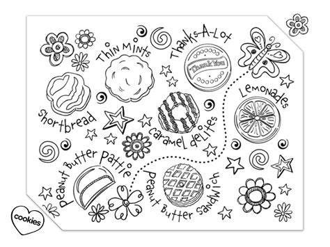 scout cookie coloring pages scout cookies coloring pages photo 1 i
