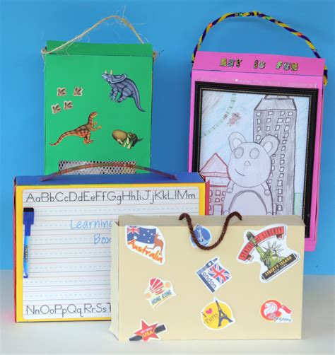 cereal box crafts for 4 cereal box craft kits for summer crafts organization