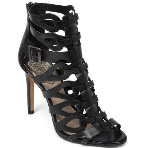 high heeled gladiator sandals vince camuto ombre gladiator high heel sandals in black lyst