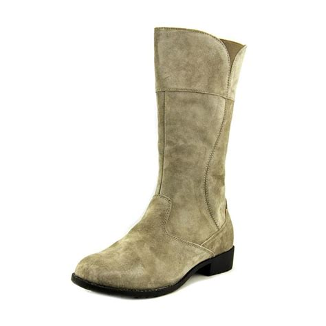 gray boots propet 2a suede gray mid calf boot boots