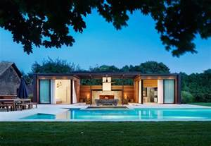 modern pool house a contemporary pool house in the htons contemporist