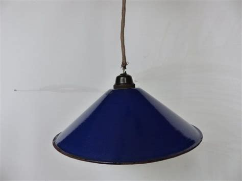 Cobalt Blue Pendant Lights Vintage Light Shade Pendant Cobalt Blue Enamel