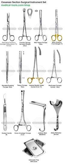 c section surgical instruments cesarean section instrument kit surgical instruments