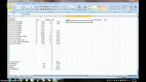 price estimate template excel estimate cost for project management
