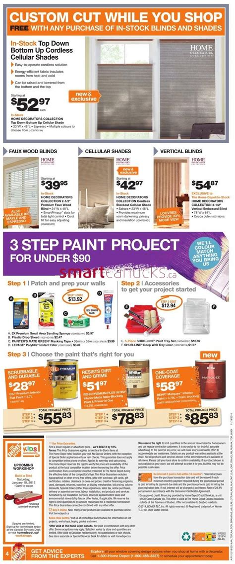 home depot early boxing week flyer sales deals 2014