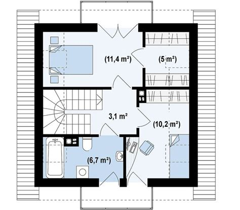square metres small footprint house three story joy studio design
