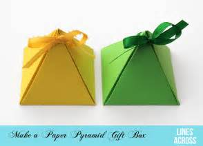 how to make a paper box template paper pyramid gift boxes lines across