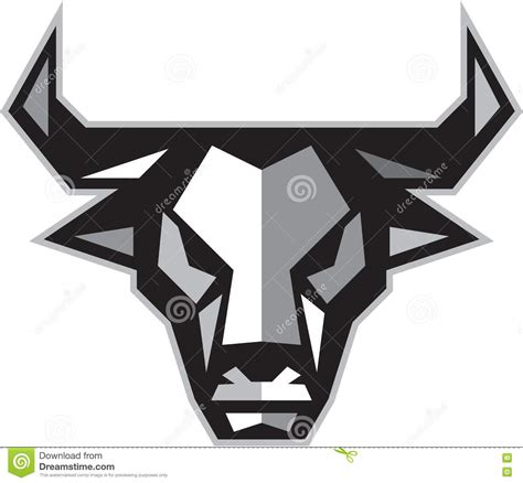 polygon bull terrier face logo dog head stock