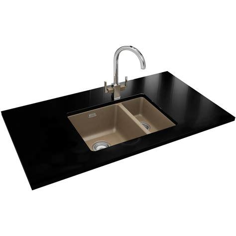 sink and tap franke kubus designer pack kbg 160 fragranite oyster sink