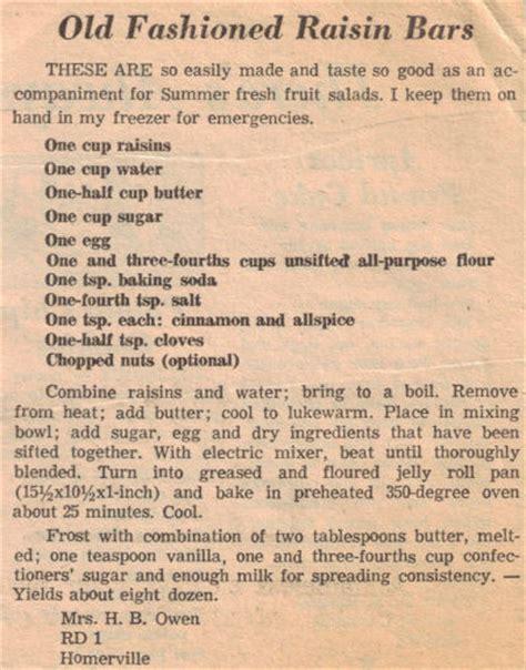 recipecurio comold fashioned raisin bars recipe clipping