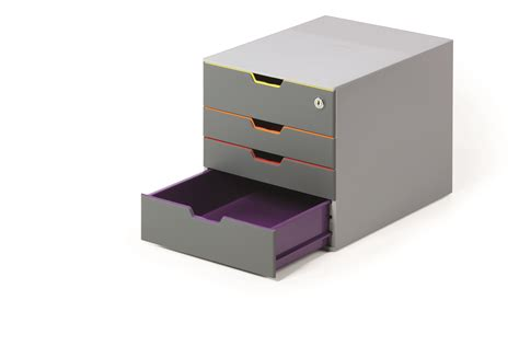 durable varicolor plastic desktop drawer set stackable 5