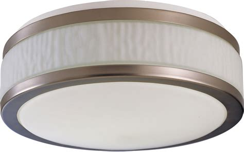 afx fuf162400l30d1sn fusion satin nickel led 15 5 quot flush