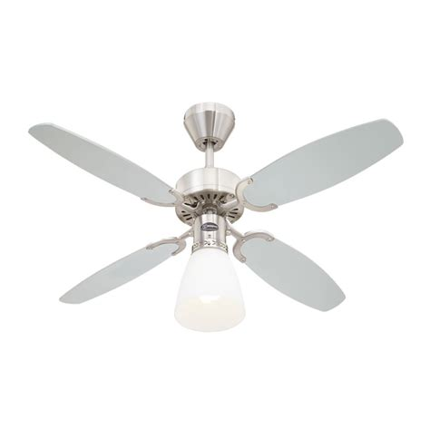 Ceiling Fan Westinghouse by Westinghouse Ceiling Fan Capitol Brushed Steel 105 Cm 41