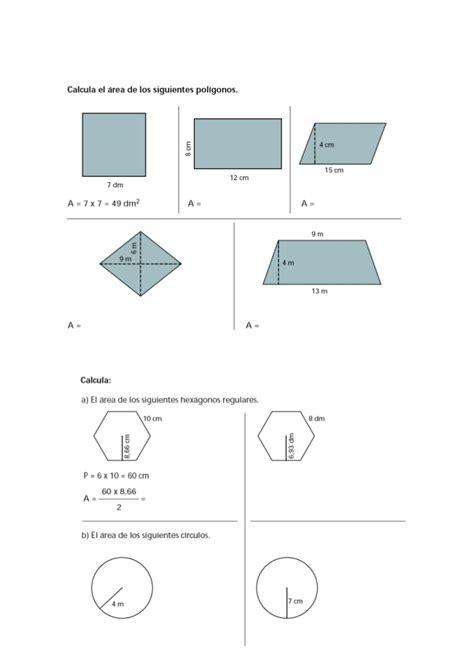 figuras geometricas area y volumen 225 rea y vol 250 men de figuras geom 233 tricas