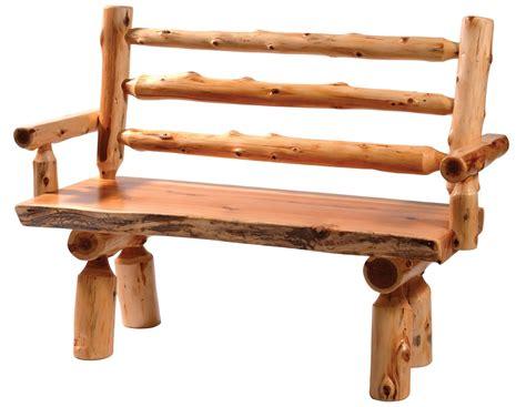 log benches with backs cedar 72 quot back armrests log bench 16137 fireside lodge
