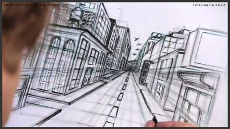 how to draw free city in one point perspective learn how to draw free