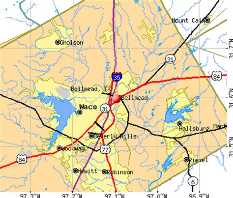 map of waco texas and surrounding area bellmead texas tx 76705 profile population maps real estate averages homes statistics