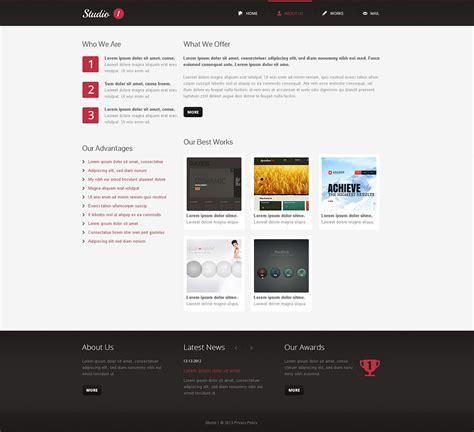 responsive web design layout template design studio responsive website template 45997 by wt