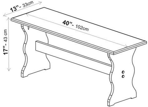 size of bench bench size guide dimensions info