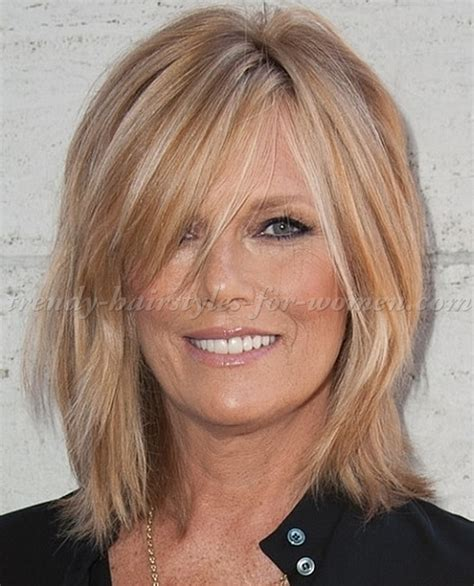 medium length haircuts for women over 50 with straight hair shoulder length hairstyles over 50 medium length
