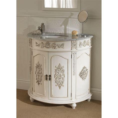 semi circular antique french vanity unit