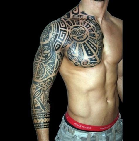 aztec tribal tattoo sleeve awesome half sleeve tattoos