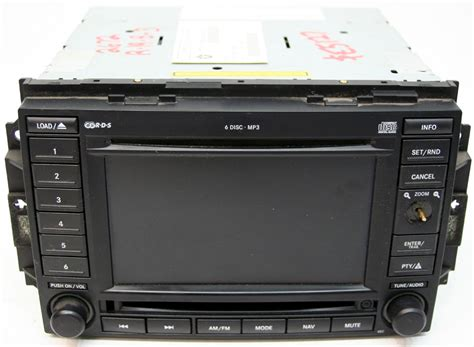2006 Jeep Commander Radio 2006 Jeep Commander Factory Nav Navigation 6 Disc Changer