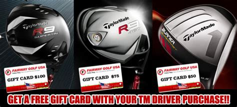 Taylormade Gift Card - get 100 75 50 gift card with your taylormade driver purchases including super tri