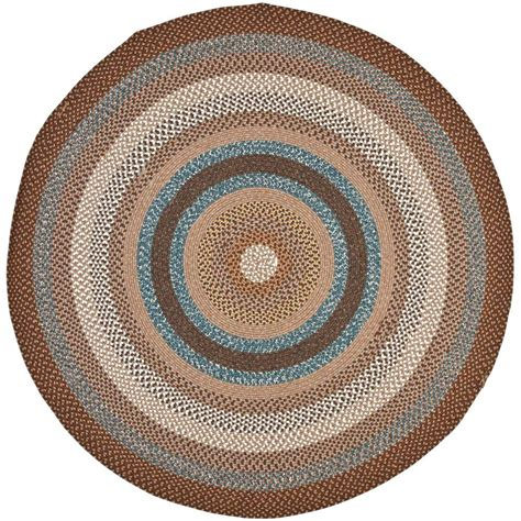 safavieh braided brown multi 8 ft x 8 ft area rug
