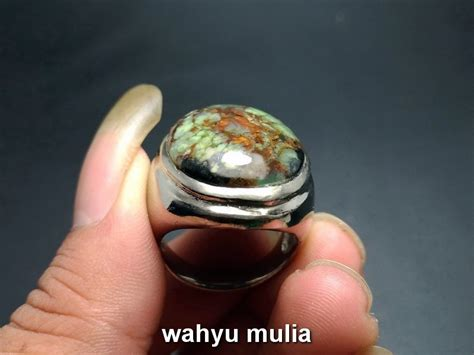 Cincin Batu Pancawarna Asli Garut batu akik garut pancawarna antik motif phirus asli kode